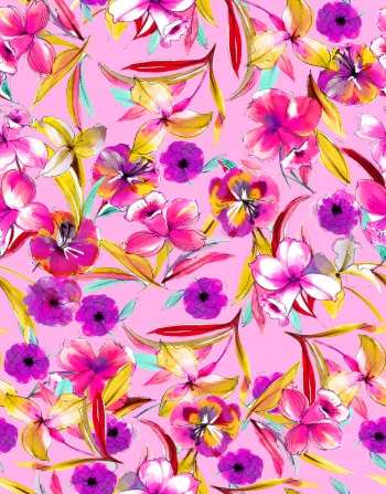 Dream flowers_purple_yellow