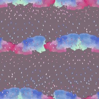 Clouds, raindrops, rain