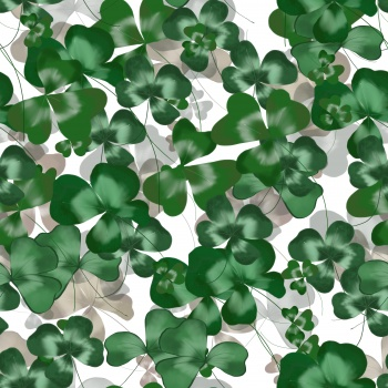 clover leaves drawn simply in watercolor