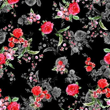 endless red flower pattern