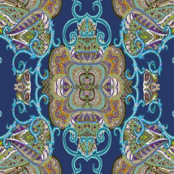 Ethnic Blue and Green Ornament