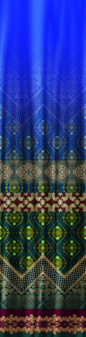 Ethnic border design looks like fabric