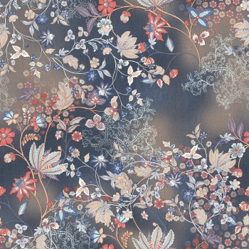 Ethnic Flowers and Fabric Surface