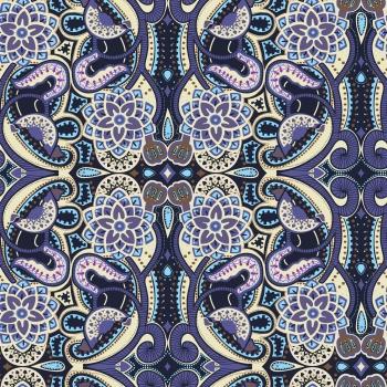 Ethnic purple doodle texture