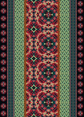 Ethnic seamless pattern design. Tribal art print. Abstract background texture