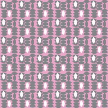 Bold and Fun Pink Oval Print