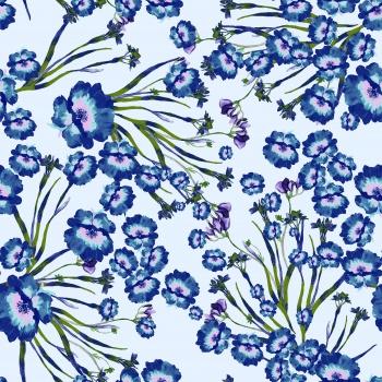 Blue Ditsy