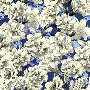 Big white flowers pattern