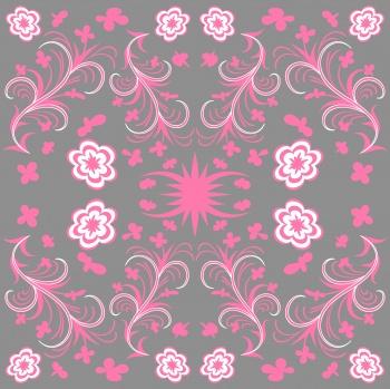 Floral damask