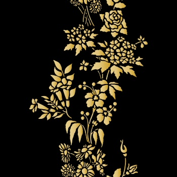 Floral pattern - Golden