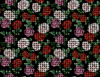Floral Pattern With Retro Looks