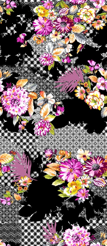 Flowers and their shades are on tile