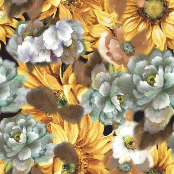 Flowers are on canvas