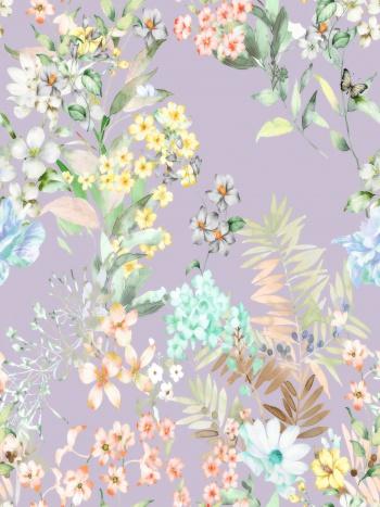 Flowers, butterflies
