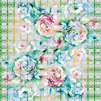 Flowers on Floral Grid