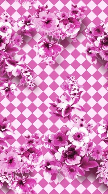 Flowers on tiles