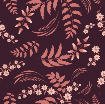 Folk floral art pattern. Flowers abstract surface design. Seamless pattern