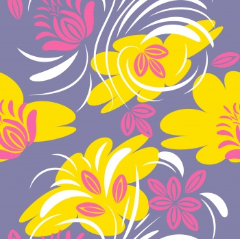 Folk floral pattern. Abstract flowers print. seamless pattern