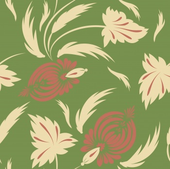 Folk floral pattern. Flowers print.