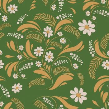 Folk flowers art pattern Floral abstract surface design Seamless pattern