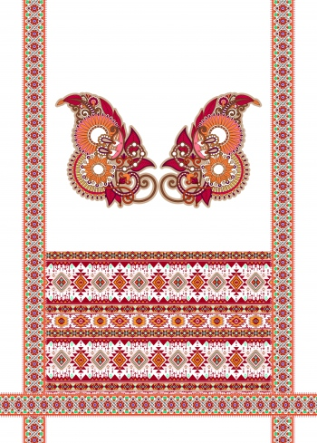Frame with ethnic motifs