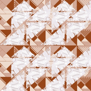 Geometric design and ethnic motifs