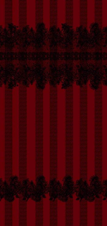 Gothic border and stripes.