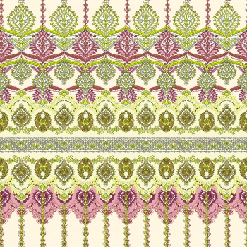 Green and Purple Ethnic Ornaments