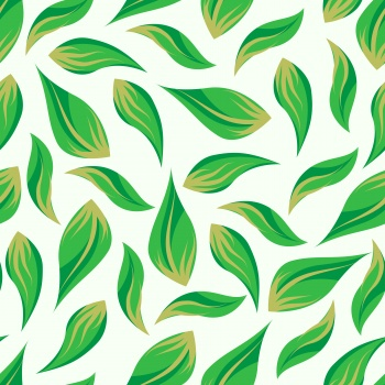 Green and yellow leaf pattern