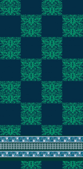 Green baroque & Blue ethnic