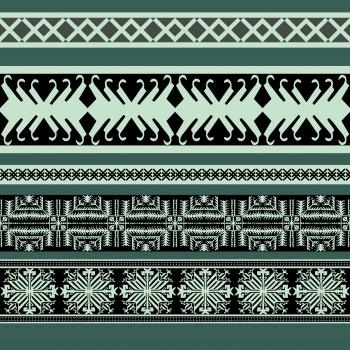 Green Ethnic Rows