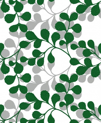Green twigs and leaves