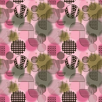 Grunge Pattern In Cubism Style Vector Art