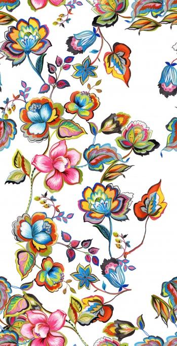Hand-drawn bohem flowers