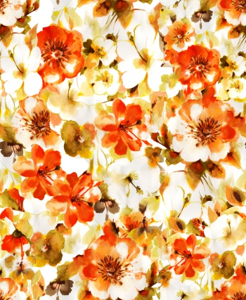 Hand drawn flowers look like sepia version of photos