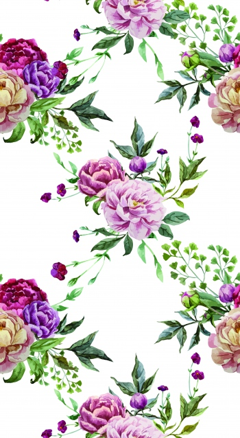 Hand painted roses.