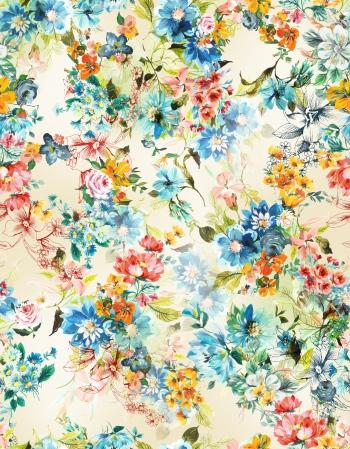 Heaven`s blue flowers