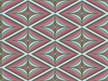 Horizontal diamond shapes