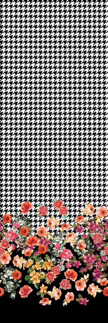 Houndstooth&romantic border