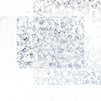 Irregular blue pattern