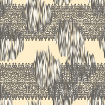 Lace motifs and ikat effects