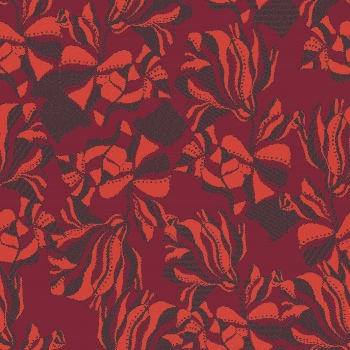 Laced Floral in Red