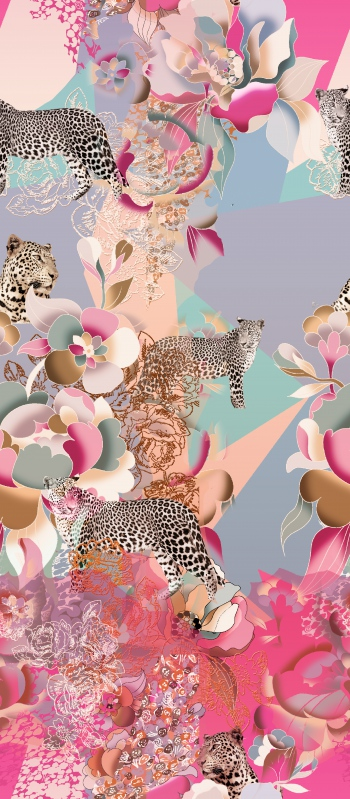 Leopards in pink world