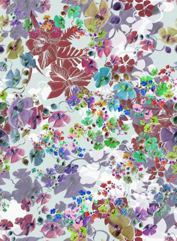 Mixed floral design-Colorful