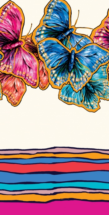 Multicolor butterflies