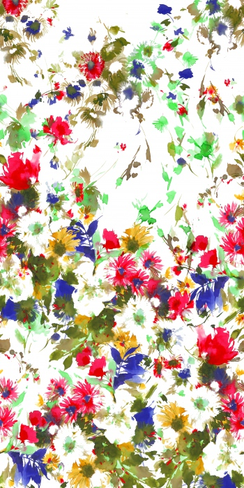 Multicolor floral design that created by watercolor