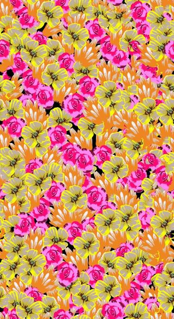 Neon Ditsy Flowers