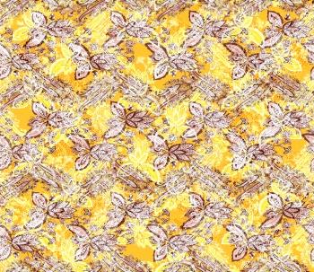 Paisleys on Yellow