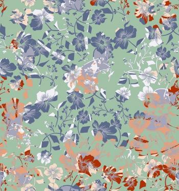 Pastel color-Stylised floral design