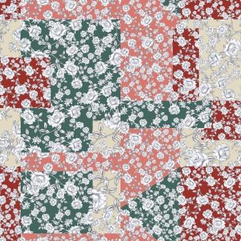 Patch work seamless print pattern